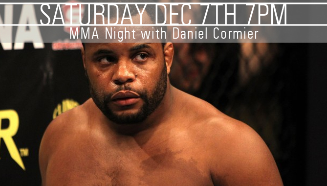 Undefeated MMA Heavyweight Daniel Cormier – Dec. 7 in Condorstown