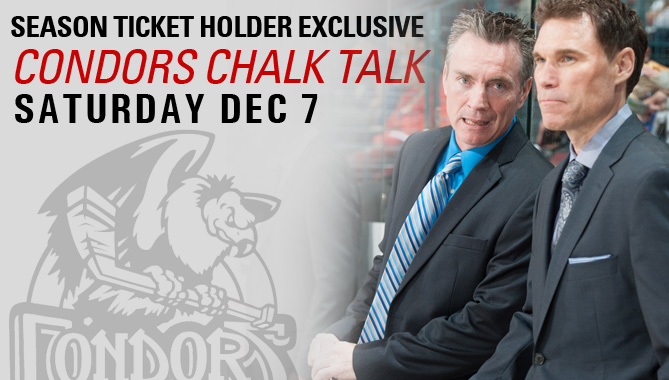 Chalk Talk with the Condors coaches prior to Saturday's game