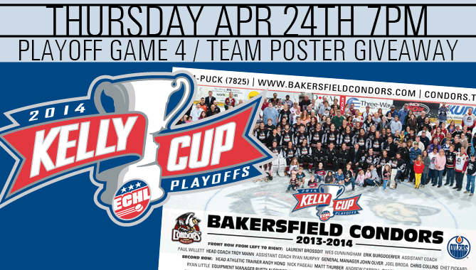 Game 4 - Thursday - Playoff Team Poster Giveaway
