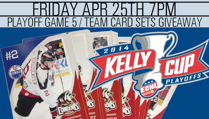 Game 5 – Friday night with Team Card Set Giveaway