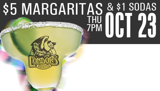 $5 Margaritas and $1 Sodas – Thurs. October 23