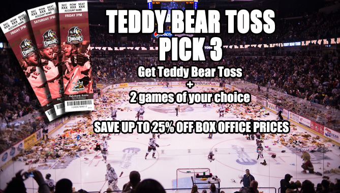 Better seats, save money – Teddy Bear Toss Pick 3 plans on sale now!