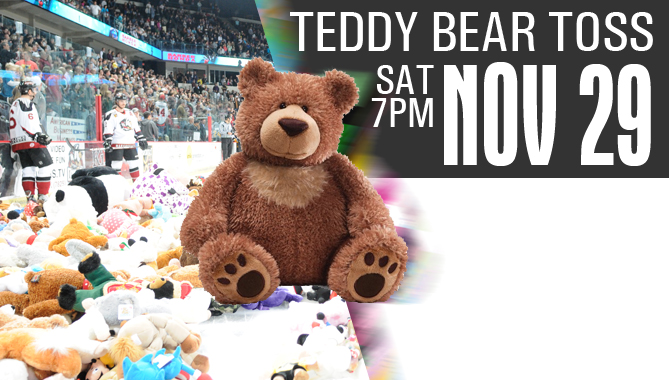 Teddy Bear Toss – Nov. 29