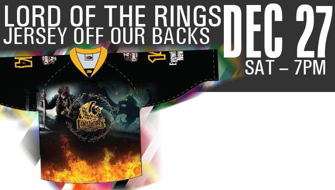 The Hobbit Jersey Off Our Backs Raffle & Auction