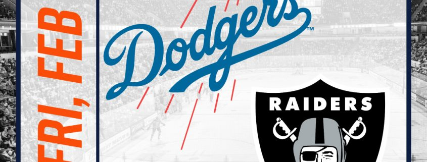 image regarding Raiders Printable Schedule identified as  Long run Gatherings DODGERS, RAIDERS